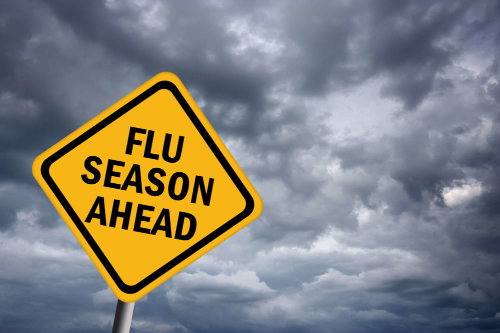 flu season ahead warning sign